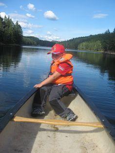 På kanotur for første gang