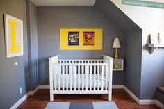 Don't miss our awesome yellow baby room. Get more decorating ideas at http://www.CreativeBabyBedding.com