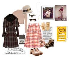 """Modern Miss Marple"" by juliabachmann on Polyvore featuring Mode, Jonathan Simkhai, Lola, Kate Spade, Miu Miu, Oliver Peoples, Jil Sander, Chloé, Dents und modern"