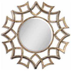 Uttermost Demarco Round Antique Gold Mirror 12730 B