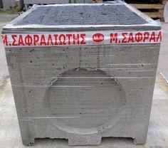 ΦΡΕΑΤΙΑ    φρεάτια προκάτ τσιμεντένια  οπλισμένα με ίνες προπυλενίου με τσιμεντένια καπάκια αλλά και με μαντέμι καπάκι κλάσης Α.15 και Β.125 σε διάφορες διαστάσεις από 30χ30 έως και 100χ100.  Χρησιμοποιείται  ως φρεάτιο υδροσυλλογής,υδρομετρητών,επίσκεψης υπονόμων αλλά και ως φρεάτιο κατασκευών. Κατασκευάζονται φρεάτια με πυθμένα αλλά και χωρίς πυθμένα που χρησιμοποιούνται ως προεκτάσεις Canning, Home Canning, Conservation