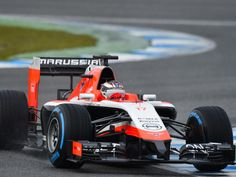 Jules Bianchi in the 2014 Marussia F1 car