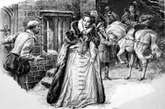 Mary Queen of Scots  Historical depiction of Mary Queen of Scots arriving to visit her sick husband, Lord Darnley, in Edinburgh, February 1567. Only a few hours later the body of Lord Darnley and his valet would be found strangled in a nearby orchard. Suspicion fell on the Earl of Bothwell, and upon Mary herself.  http://www.finelifeart.com/mary-queen-of-scots/