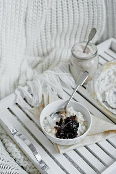... rice pudding with armagnac prunes ...