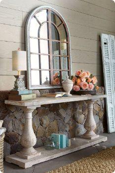 use as sideboard in dining room.  (pillars)