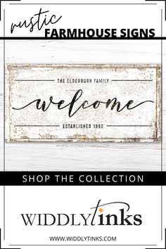 Rustic Farmhouse Family Welcome Sign - Widdlytinks Wall Art Wall Decor Design, Unique Wall Decor, Home Wall Decor, Large Canvas Wall Art, Canvas Wall Decor, Canvas Art, Wedding Gifts For Newlyweds, Newlywed Gifts, Custom Canvas Prints