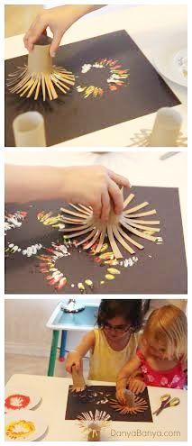 moviestalkbuzz: Tissue paper roll paintings