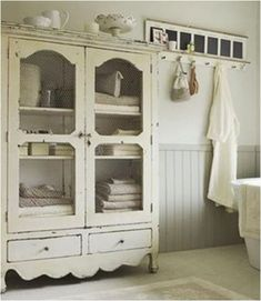 What To Do With An Old Armoire or TV Cabinet.