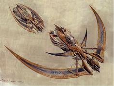 Mecca Fighter, concept art for Chronicles of Riddick, by artist Jim Martin.