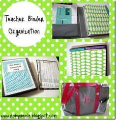 Teacher Binder Organization