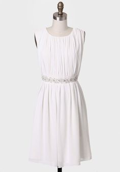 This would be a great casual wedding dress or rehearsal dinner dress. The Three Graces Dress By MM Couture @Ruche