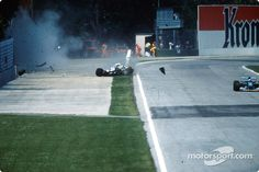 Ayrton Senna, The Legend - The Crash - On lap 7, Senna's car understeered in Tamburello Corner at 190mph and veered off the track. He managed to slow down to 135mph in less than two seconds but struck an unprotected concrete barrier. Many suspect the steering column broke in the turn explaining his sudden loss of control.