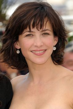 Sophie Marceau. mid length layered bob