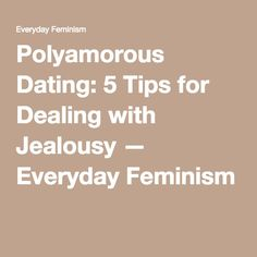 Poly dating tips