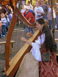 sweet music from the harp - Carolina Renaissance Festival by Jude Camwell