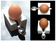 A new take on egg cups. Breakfast Set, Egg Holder, Weird Shapes, Egg Cups, Yummy Eats, Industrial Design, 3d Printing, Eggs, Teller