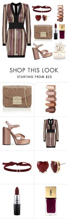 """Sexy 😉"" by hanija21 ❤ liked on Polyvore featuring Furla, Jil Sander, Balmain, Betsey Johnson, MAC Cosmetics, Yves Saint Laurent and Marc Jacobs"