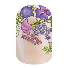 Dancing Lilacs nail wraps - No dry time, non-toxic, vegan, Allergy friendly, awesome nail wrap designs that last about 2 weeks!! Click on the picture!
