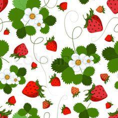 Vector of 'strawberry, wallpaper, strawberries'