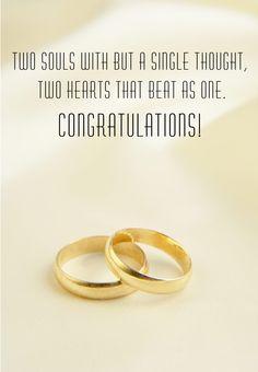 Free Printable Wedding Rings Greeting Card