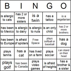 Icebreaker Bingo Card -- free printable. Can also change this to be relevant to my demographic of students.