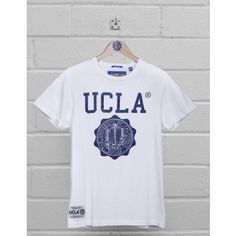 UCLA Clothing   UCLA T Shirt White Powell with blue logo