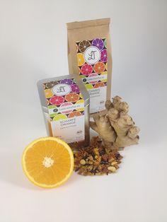 """New arrival in LieblingsTee tea collection: """"Scharfe Orange"""" (Hot Orange). Oragnic citrus fruits, organic orange with organic ginger. http://www.lieblingstee.de/fruechte/70/scharfe-orange?c=36"""