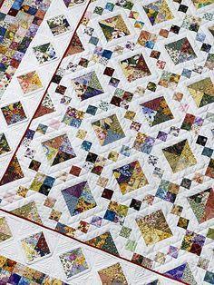 Quilt I'll be making Batik Quilts, Scrappy Quilts, Easy Quilts, Patch Quilt, Quilt Blocks, Quilting Projects, Quilting Designs, Postage Stamp Quilt, Scrap Quilt Patterns