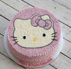 New birthday cake girls kids chocolate ideas Kue Hello Kitty, Torta Hello Kitty, Hello Kitty Birthday Cake, New Birthday Cake, Birthday Crafts, Birthday Cupcakes, Birthday Cakes Girls Kids, Cake Kids, Marshmallow Fondant