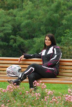 Shox Tiana női motoros textildzseki fekete fehér pink motorosbarát áron e980516f64