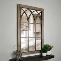 Modern Home Accents Window - Grandview Weathered Brown Arched Window Mirror. Farmhouse Mirrors, Farmhouse Windows, Farmhouse Decor, Rustic Mirrors, Coastal Farmhouse, Modern Farmhouse, Farmhouse Style, Arched Window Mirror, Arched Windows