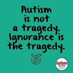 It's so hard not to  when people tell me how sorry they are that my son has autism.