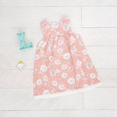 Peony Dress in Cotton Flower Pink Print