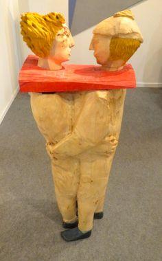Este casal estava exposto na Galeria Marlboro, de NYC