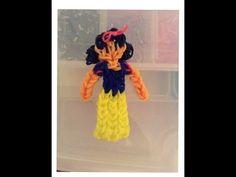 How To Make A Rainbow Loom Snow White Charm; Disney Princess Series - YouTube