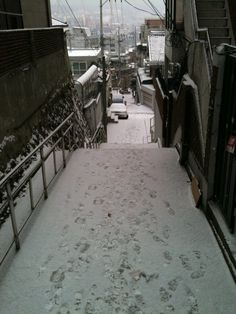 Seoul snow. I'm not generally a fan of snow, but we'll see, haha.