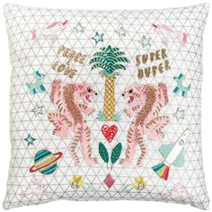 Shop craft materials, yarn and free patterns. Knitting, crochet, embroidery, sewing and tons of inspiration for your next project. Cross Stitch Cushion, Rico Design, Bengal Tiger, Craft Materials, Peace And Love, Free Pattern, Bullet Journal, Cushions, Tapestry