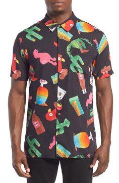 20f68fe550b2 VANS  Santa Ana  Trim Fit Short Sleeve Print Woven Shirt.  vans  cloth