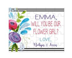 Proposal Flower Girl Puzzle Ask to be Flower Girl Flower Girl Proposal Puzzle unicorn lover Flower Girl Proposal Asking the Girls