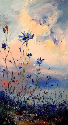 How Oil Painting Landscape Art, Landscape Paintings, Pintura Graffiti, Arte Van Gogh, Aesthetic Art, Flower Art, Amazing Art, Watercolor Art, Cool Art