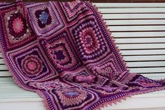 Ravelry: MossyOwls' Pink & Purple Crochet Sampler Favorites Lapghan
