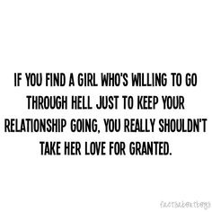 quotes about taking someone for granted | don't take her love for granted.