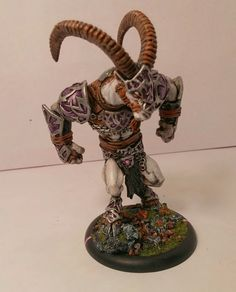 Shadowhorn Satyr Blood Bowl Miniatures, Satyr, War Machine, Warhammer 40k, Old School, Old Things, Colours, Age, Painting