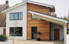 wood Frame Facade Timber Cladding is part of House cladding - Welcome to Office Furniture, in this moment I'm going to teach you about wood Frame Facade Timber Cladding House Cladding, Timber Cladding, Exterior Cladding, Exterior Paint, Cladding Ideas, Home Exterior Makeover, Exterior Remodel, Reforma Exterior, Rendered Houses