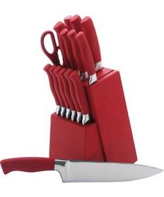 red kitchen knife set sideboards 32 best family room images rooms blinds love the colour match range at argos this block is and matches rest of