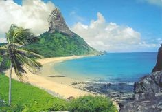"""Fernando De Noronha, Brazil Fernando De Noronha, is is an archipelago of 21 islands and islets in the Atlantic Ocean, around 220 miles offshore from the Brazilian coast.Probably the most beautiful beaches in the world where only a few people know about it. Fernando De Noronha is One of the Unesco World Heritage Site as """"the most beautiful marine park in the World""""."""