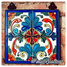 talavera Beautiful as an accent tile. Just need to find countertop tiles like this Mexican Art, Mexican Style, Talavera Pottery, Ceramic Pottery, Ceramic Art, Tuile, Mexican Designs, Tile Art, Tile Patterns