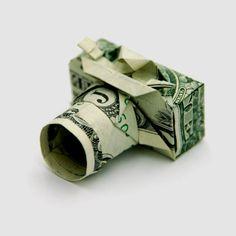 aus Geldscheinen Kamera falten, Geldgeschenke selber basteln, kreative Ideen zum Nachmachen