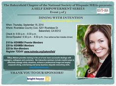 National Society of Hispanic MBAs, Thank you for having me as your guest speaker!  You've mastered Business Dining Etiquette!    Wishing You the Best!  Your Favorite Etiquette Lady, Tiffany Nielsen   www.tiffanynielsen.com