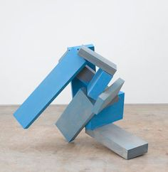 Joel Shapiro - Untitled, 2005-2007 wood and casein 120 x 134.9 x 101cm